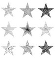 hand-drawn sketch stars design vector image vector image