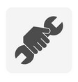 hand wrench icon vector image