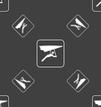 hang-gliding sign Seamless pattern on a gray vector image vector image