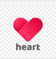 heart logo modern abstract flat app icon vector image vector image