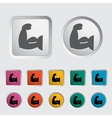 Icon of bodybuilding vector | Price: 1 Credit (USD $1)