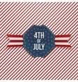 Independence Day 4th of July realistic Emblem vector image vector image