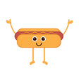 isolated happy hot dog emote vector image vector image