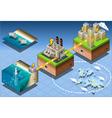 Isometric Infographic Underwater Turbines vector image vector image