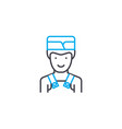kitchen assistant linear icon concept kitchen vector image vector image