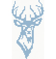 Knitted deer sweater background vector image