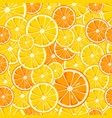 lemon and orange slices seamless pattern vector image vector image
