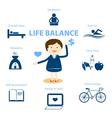 life balance vector image