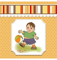 little boy playing ball vector image vector image