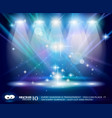 magic spotlights vector image vector image