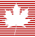 Maple Leaf on Stripes vector image