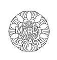 mardi gras coloring page vector image