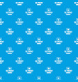 material 3d printing pattern seamless blue vector image vector image