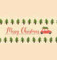 merry christmas greetings banner seamless vector image