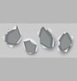 metal hole ripped edges damaged steel burst vector image vector image