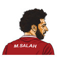 mo salah cartoon caricature vector image