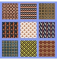 Oriental seamless pattern set vector image