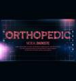 orthopedic banner medical background vector image
