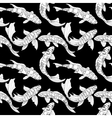 Pattern with koi vector image vector image