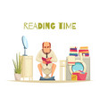 reading time background vector image vector image