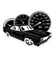 retro muscle car vintage vector image vector image