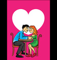 romantic couple in love holding hands heart symbol vector image