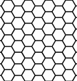 Seamless black honeycomb pattern over white vector image vector image