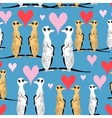 Seamless pattern of funny meerkat lovers vector image vector image
