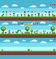 set character and ground for playing game vector image vector image