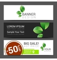 set of banners Sale typography background vector image