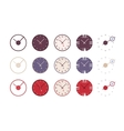 Set of modern wall clocks vector image