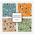 Set of seamless patterns with bones skulls vector image