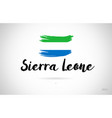 sierra leone country flag concept with grunge vector image