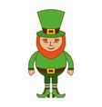 smiling leprechaun cartoon st patricks day vector image