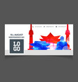 south korea independence day social media cover vector image