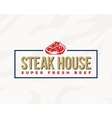 Steak House Typography Label Emblem or Logo vector image vector image