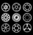 steampunk gears vector image vector image