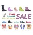 supper summer shoes sale flat concept vector image