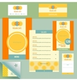 Template logo and corporate identity vector image vector image