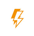 thunderbolt power energy light yellow line style vector image