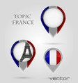 Topic France Map Marker vector image vector image