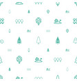 trees icons pattern seamless white background vector image vector image