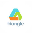 triangle pyramid technology logo vector image