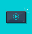video player icon on tablet or smartphone screen vector image vector image