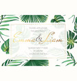 wedding event invitation card template exotic vector image vector image