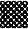 White Polka dot Chess Board Grid Black vector image vector image