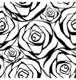 white roses pattern vector image vector image