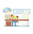 work burnout concept flat style design vector image