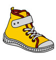 yellow childrens sneaker vector image vector image
