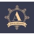 emblem royal quality design vector image